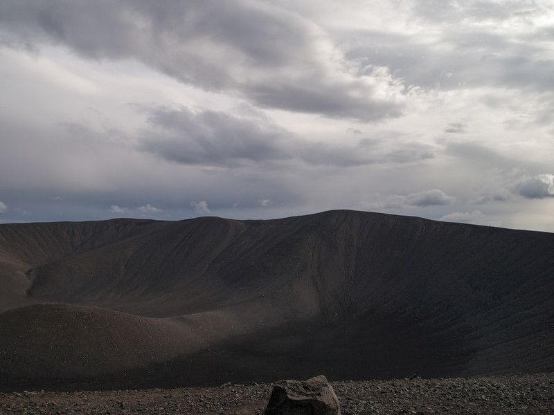 Top of Hverfjall looking down into the crater