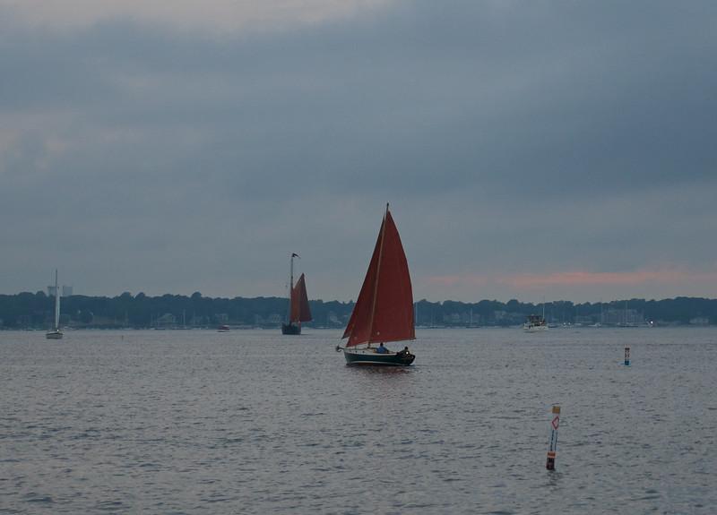 Tan bark sails