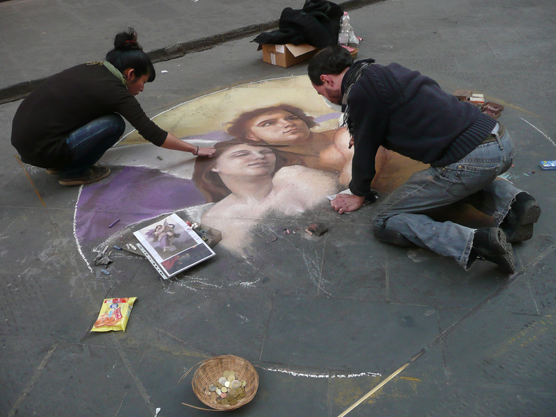 Chalk painting, Florence, Italy, f0882219,