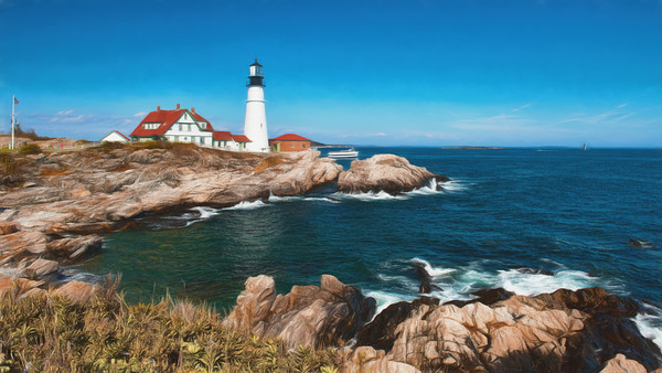 Lighthouses and Harbors of Maine 2018