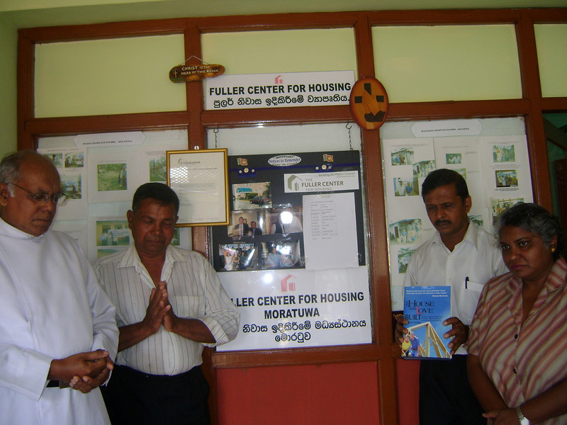 09 02 Moratuwa, Sri Lanka - Remembering Millard with prayers and thanksgiving at Fuller Center office.