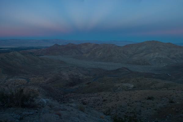 Santa Rosa - San Jacinto Mountain Sunset
