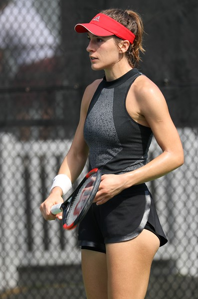 Andrea Petkovic in Black Adidas