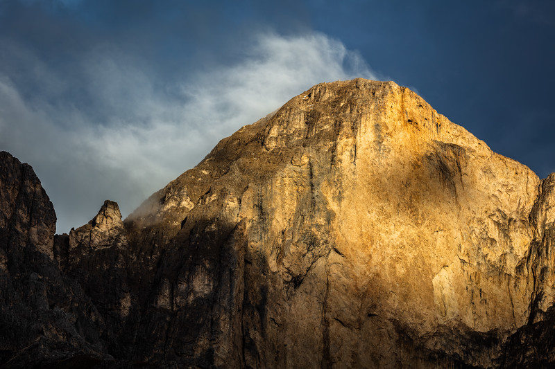 Mountain in the light