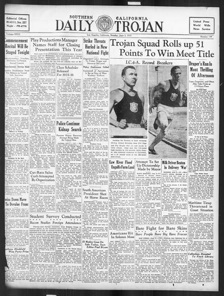 Daily Trojan, Vol. 26, No. 149, June 03, 1935