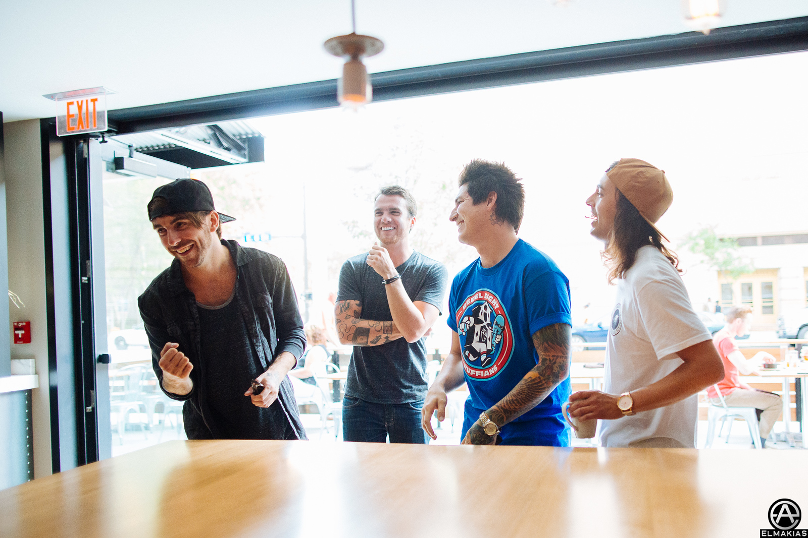 All Time Low and Pierce The Veil laughing at some youtube video