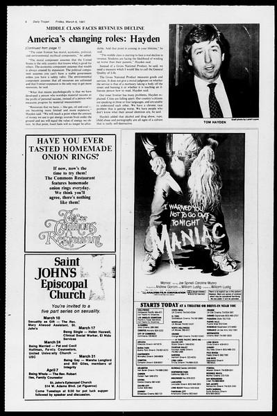 Daily Trojan, Vol. 90, No. 21, March 06, 1981