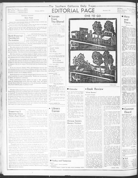 Daily Trojan, Vol. 28, No. 131, May 06, 1937