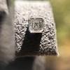 .54ctw Asscher Cut Diamond Bezel Stud Earrings, Platinum 12