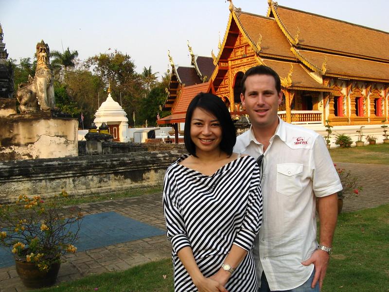 Joy and Scott at Wieng Khum Kham