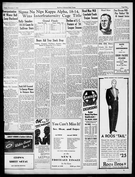 Daily Trojan, Vol. 26, No. 52, December 07, 1934