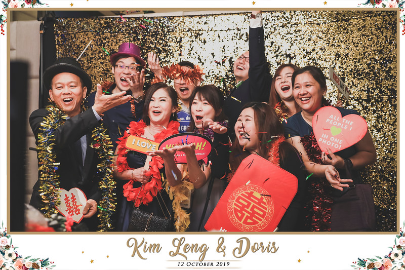 Wedding of Kim Leng & Doris   © www.SRSLYPhotobooth.sg