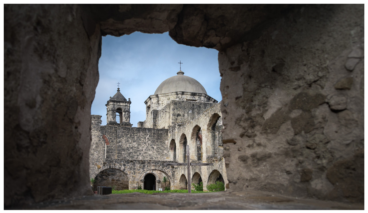 One of the Spanish Missions around San Antonia in Texas