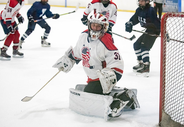 07/24/19 Wesley Bunnell | Staff The CT Capitals defeated Whitie Bensen Selects 4-2 in 14U Nutmeg Games hockey at the Newington Arena. Elliott Stambaugh (31).
