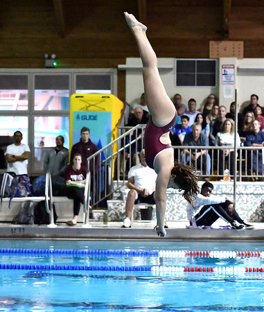 10/29/2019 Mike Orazzi | StaffrBristol Centrals Emma Lewisduring diving at Tuesdays girls swim meet with Bristol Eastern. r