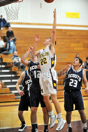 Governor Mifflin vs Conrad Weiser Boys JV and Varsity Basketball 2012 - 2013