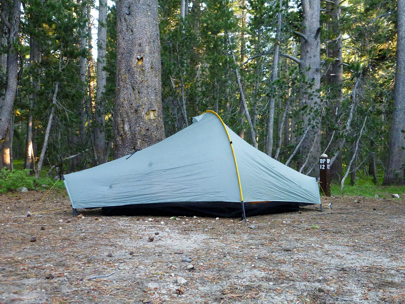 Camping at the Tuolumne Backpackers camp on Saturday night.