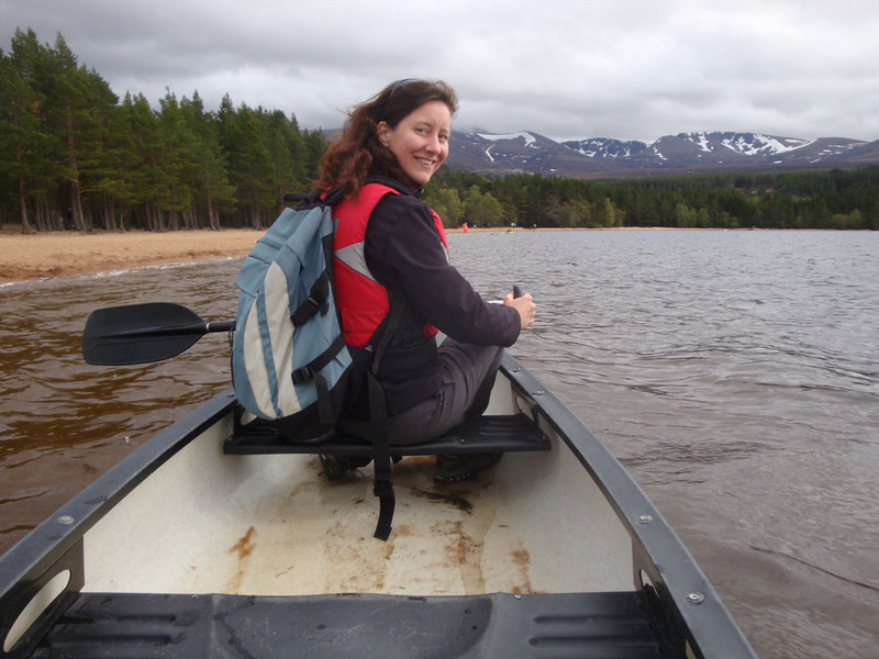 But not until we'd been canoeing! And so Jasmijn dragged me away from the comforts of the sauna, out onto the freezing Loch Morlich.