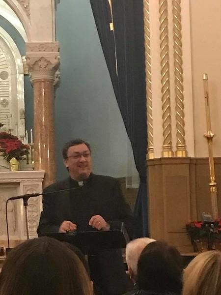 Fr. Vasken A. Kouzouian, Pastor of Holy Trinity Armenian Church, offering welcoming remarks.