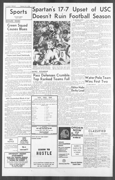 Daily Trojan, Vol. 56, No. 11, October 05, 1964