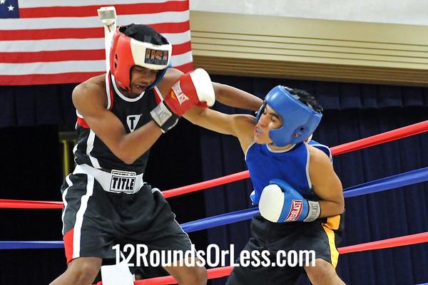 Bout 10 Zach Arvelo, Ellwood City Police boxing, PA -vs-  Elliot Davis, Untouchable BC, Cleveland, 130 lbs