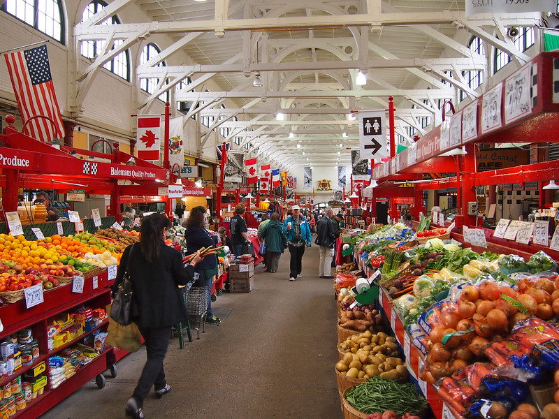 Saint John City Market in New Brunswick