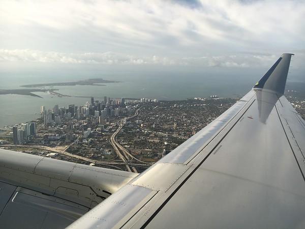 Flying Into Miami