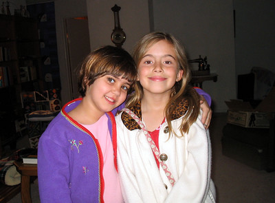 Girls at Work - Anna and Lily 2004