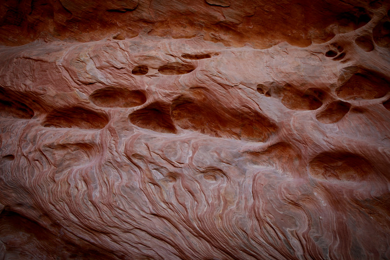 Sandstone erosions in Little Wildhorse Canyon