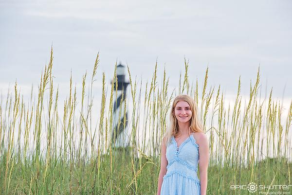 Grace, Cape Hatteras Lighthouse, Senior Portraits,