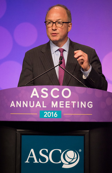 Paul G. Richardson, MD, discusses LBA4 during Plenary Session including Science of Oncology Award and Lecture