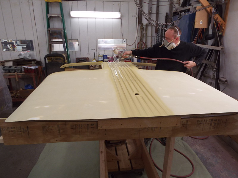 Second coat of primer being applied.