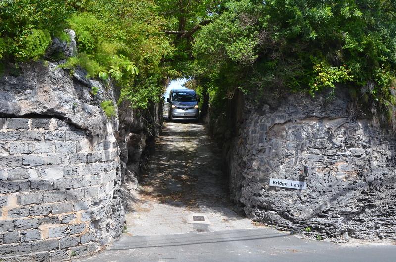 Very narrow public road.