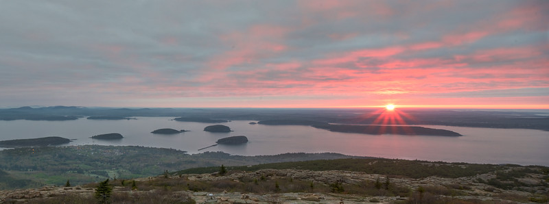Sunrise from top of Cadillac Mountain