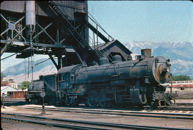 UP 2-8-2 2726, Ogden, June 5, 1956. (Vic Oberhansley Photo)
