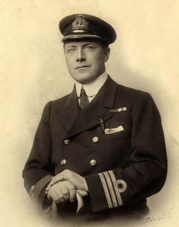 EGW.Davidson wearing the uniform of a Commander RN.