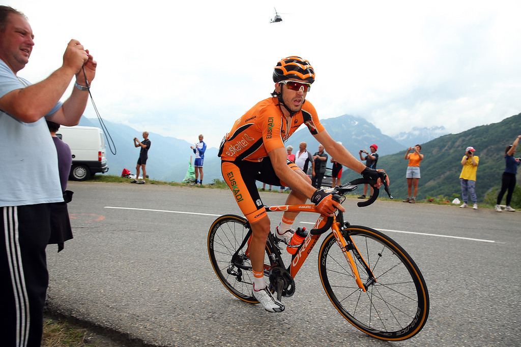 . Jon Izaguirre of Spain and Euskatel-Euskadi in action during stage nineteen of the 2013 Tour de France, a 204.5KM road stage from Bourg d\'Oisans to Le Grand Bornand, on July 19, 2013 in Le Grand Bornand, France.  (Photo by Bryn Lennon/Getty Images)
