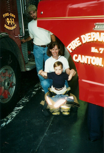 big pants to fill - visiting Bob's fire station   7/98
