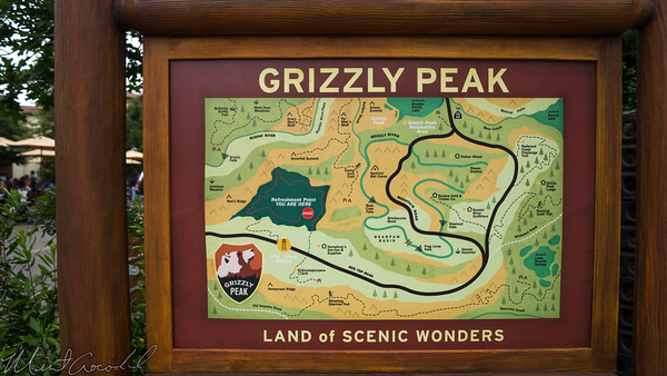 Disneyland Resort, Disney California Adventure, Grizzly, Peak, Airfield, Map, Sherman, Brothers