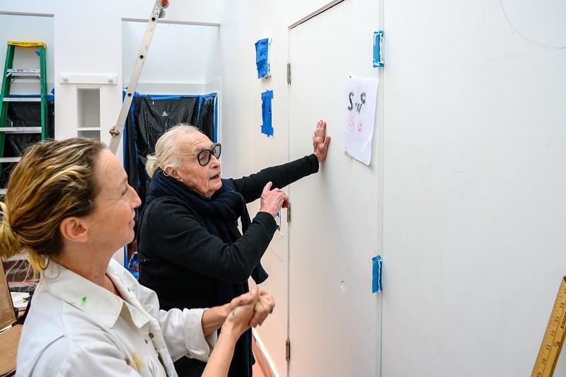 Barbara Stauffacher Solomon - Looking over the Plans