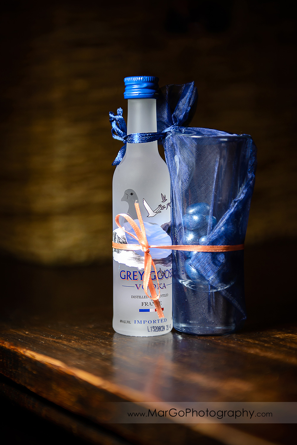 grey goose wedding favors at Saratoga Foothill Club