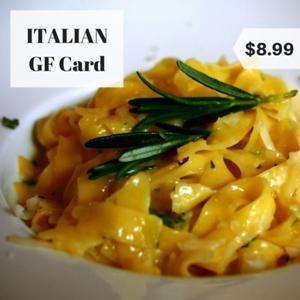 italy gluten free restaurant card