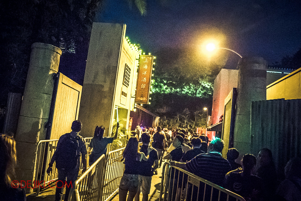 Halloween Horror Nights 6 - RIP Tour review / priority access to all haunted houses via VIP access lane - Hu Li's Inn