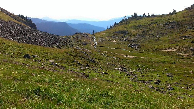 The meadow  at the top of Jordan Basin - nice little creek going through it with several campsites.