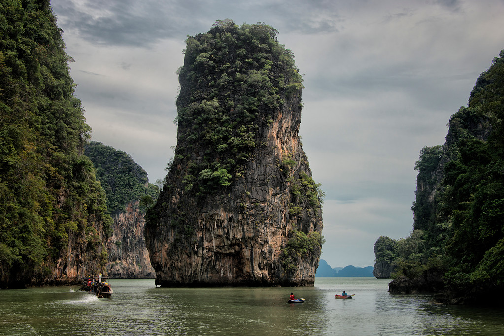 Islands and Kayaks, Phang Nga Bay, Thailand - 2015