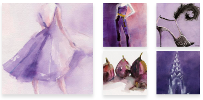 Purple Paintings Wall Art by Beverly Brown
