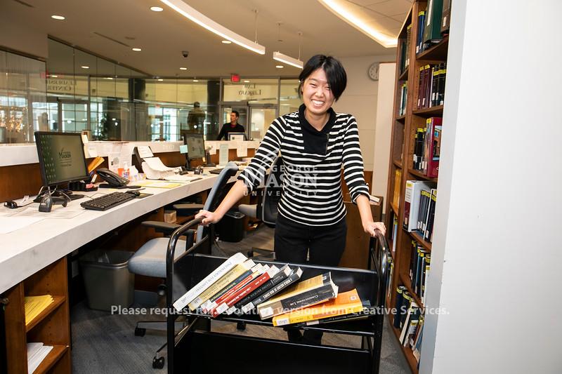 Gina Nam, Scalia Law Library.  Photo by:  Ron Aira/Creative Services/George Mason University