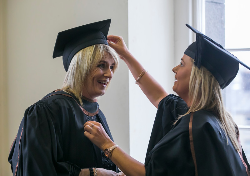 31/10/2018. Waterford Institute of Technology (WIT) Conferring Ceremonies 2018. Pictured are Caroline O'Brien and Amanda Shaw Clonmel. Picture: Patrick Browne