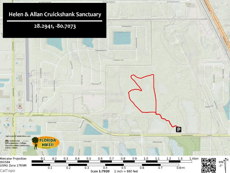 Cruickshank Sanctuary Trail Map