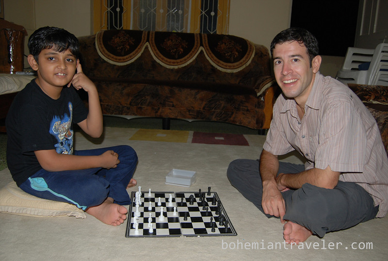 playing ches with Manish's son.jpg